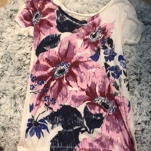 LUCKY BRAND flower pattern t-shirt